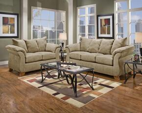 6700-SC-SL Verona IV 2 Piece Payton Living Room Set, Sofa + Loveseat, in Sensations Camel