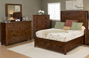 Coolidge Corner Collection 1503QPBDM 3-Piece Bedroom Set with Queen Bed, Dresser and Mirror in Brown