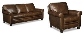 SS167 2-Piece Living Room Set with Kingston Eden Stationary Sofa and Chair in Dark Brown