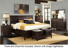 Westlake WSLDM5195 5-Piece Bedroom Set with King Storage Bed, Dresser, Mirror and 2 Nightands in Dark Mahogany Finish