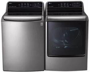"2 Piece Laundry Pair with WT7710HVA 29"" Top Load Washer and DLEX7710VE 29"" Electric Dryer in Graphite Steel"