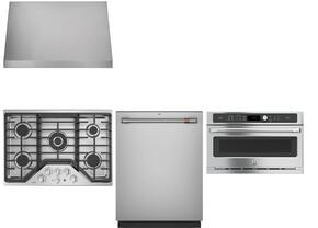 "4-Piece Kitchen Package with CGP9530SLSS 30"" Natural Gas Cooktop, CSB9120SJSS 30"" Electric Single Wall Oven, CV936MSS 30"" Wall Mount Ducted Hood, and CDT865SSJSS 24"" Built In Fully Integrated Dishwasher in Stainless Steel"