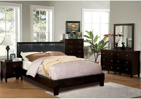 Villa Collection CM7007FBDMCN 5-Piece Bedroom Set with Full Bed, Dresser, Mirror, Chest, and Nightstand in Espresso Color