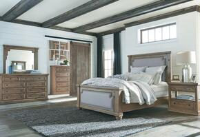 Florence Collection 205171QSET 5 PC Bedroom Set with Queen Size Bed + Dresser + Mirror + Chest + Nightstand in Rustic Smoke Finish