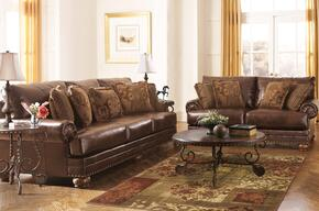 Oliver Collection MI-3510SL-ANTQ 2-Piece Living Room Set with Sofa and Loveseat in Antique