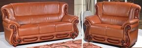 Bella 632-COGNAC-S-L 2 Piece Living Room Set with Sofa and Loveseat in Cognac