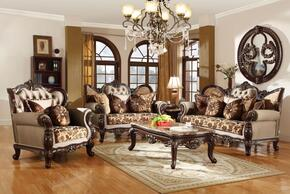 6 Piece Living Room Set with Sofa, Loveseat, Arm Chair, Coffee Table, End Table and Chaise in Brown