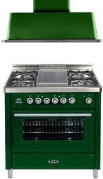 2-Piece Emerald Green Kitchen Package with UMT90FDVGGVS 36