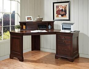 "Belcourt ER-BLC-K-ODK60DH-D Home Office Set with 60"" Corner Desk and 41"" Corner Hutch in Cherry Finish"