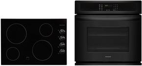"2 Piece Kitchen Package With FFEC3024LB 31"" Electric Cooktop and FFEW3025PB 30"" Electric Single Wall Oven In Black"