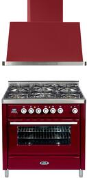 2-Piece Burgundy Kitchen Package with UMT906DVGGRB 36
