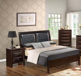 G1525ATBNCH 3 Piece Set including Twin Size Bed, Nightstand and Chest in Cappuccino