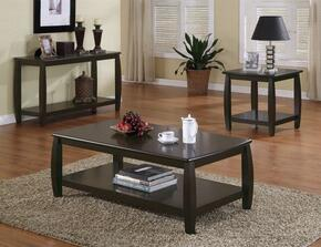 Marina Collection 701078SET 3 PC Living Room Table Set with Coffee Table + End Table + Sofa Table in Espresso Finish