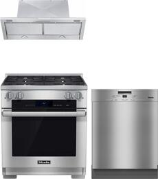 3-Piece Stainless Steel Kitchen Package with HR1924DFLP 30