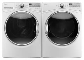 "White Front Load Laundry Pair with WFW92HEFW 27"" Washer and WED92HEFW 27"" Electric Dryer"