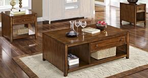 3071110CEE Contempo 3 Piece Occasional Table Set with Cocktail Table, End Table and Chairside End Table, in Burnished Walnut