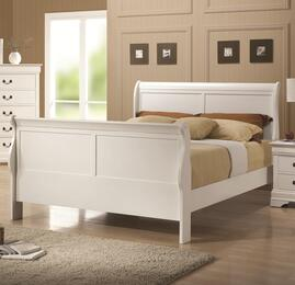 204691Q4P Louis Philippe 204 4-Piece Bedroom Set with Queen Sleigh Bed, Dresser, Mirror and Single Nightstand