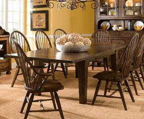 Attic Heirlooms 5399T6SC2AC Kit Including Extendable Table,6 Side Chairs and 2 Arm Chairs in Rustic Oak Finish