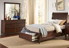 Avignon Youth Collection 1619FPBDM 3-Piece Bedroom Set with Full Storage Bed, Dresser and Mirror in Birch Cherry