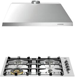 "2-Piece Stainless Steel Kitchen Package with QB30M400XLP 30"" Liquid Propane Cooktop and KU30PRO1X14 30"" Canopy Hood"