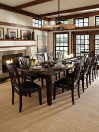 Montreal Collection MONESRT10SC 11-Piece Dining Room Set with Rectangular Table and 10x Side Chairs in Espresso Finish