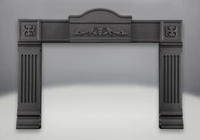CISM+AK-1M Cast Iron Surround with Adaptor Kit in Metallic Black