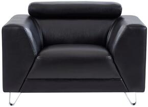Global Furniture USA U8210PLUTOBLACKCHAIR