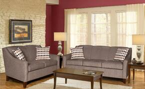 25260030SL Hilda Sofa + Loveseat with 16 Gauge Border Wire, Montage Pewter Toss Pillows, Sinuous Springing System, Hi-Density Foam Cores and Solid Kiln Dried Hardwoods in Sagittarrius Granite