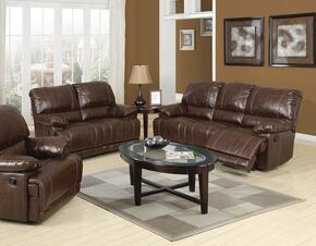 Daishiro Collection 50745SET 6 PC Living Room Set with Sofa + Loveseat + Recliner + 3 PK Table Set in Chestnut Color