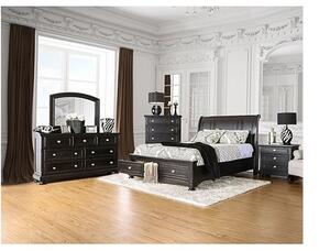 Argusville Collection CM7381QSBDMCN 5-Piece Bedroom Set with Queen Storage Bed, Dresser, Mirror, Chest and Nightstand in Espresso Finish
