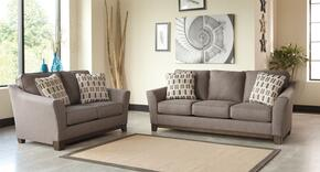 Janley 4380438SET2PC 2-Piece Living Room Set with Sofa and Loveseat in Slate