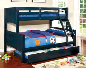 Prismo II Collection CMBK608FBLBEDT 2 PC Bedroom Set with Twin Over Full Bunk Bed + Trundle in Blue Finish