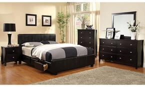 Burlington Collection CM7009FSBDMCN 5-Piece Bedroom Set with Full Storage Bed, Dresser, Mirror, Chest, and Nightstand in Espresso Finish