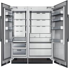 "60"" Panel Ready Side-by-Side Column Refrigerator Set with DRR24980LAP 24"" Left Hinge Refrigerator, DRZ36980RAP 36"" Right Hinge Freezer, and Installation Kit"