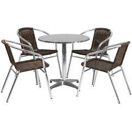 Flash Furniture TLHALUM28RD020CHR4GG