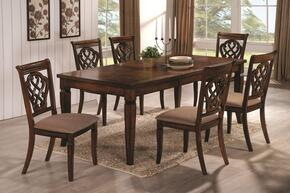 Hayden 103391SET 7 PC Dining Room Set with Table + 6 Side Chairs in Walnut Finish