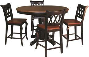 Sunset Selections Collection DLU-TBX4266CB-B1624-BCH5PC 5 Piece Pub Table Set with Oval Table + 4 Bar Stools