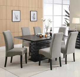 102061SET5 Stanton 5 PC Gray Dining Set (Table and 4 Chairs) by Coaster Co.
