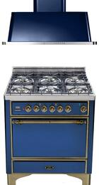 2-Piece Midnight Blue Kitchen Package with UMC906DVGGBLY 36