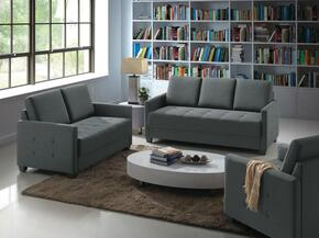 G778SET 3 PC Living Room Set with Sofa + Loveseat + Armchair in Charcoal Color