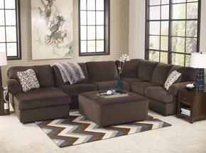 Jessa Place 39804-08-16-34-67 2-Piece Living Room Set with Sectional Sofa and Oversized Accent Ottoman in Chocolate
