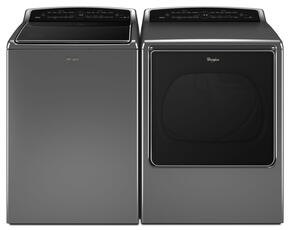 "Cabrio Chrome Shadow Top Load Laundry Pair with WTW8700EC 28"" Washer and WED8700EC 29"" Electric Dryer"