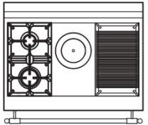 90 US C3 Cooktop Configuration wi...