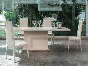 VGACANCONA-DTCH Modrest Ancona Extendable Dining Table + 4 Chairs in Beige