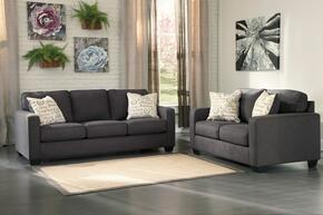 Alenya Collection 16601SL 2-Piece Living Room Set with Sofa and Loveseat in Charcoal
