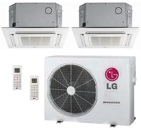 LMU24CHVPACKAGE29 Dual Zone Mini Split Air Conditioner System with 30000 BTU Cooling Capacity, 2 Indoor Units, Outdoor Unit, and 2 PT-UQC Grille Kits