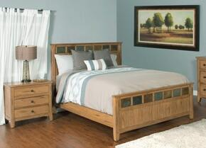 Sedona Collection 2334ROQBBEDROOMSET 2-Piece Bedroom Set with Queen Bed and Nightstand in Rustic Oak Finish