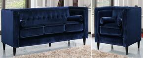 Taylor Collection 642-NAVY-S-L 2 Piece Living Room Set with Sofa and Chair in Navy