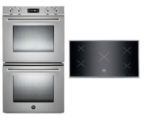 "Professional 2-Piece Stainless Steel Kitchen Package with FD30PROXE 30"" Double Electric Wall Oven and P365IX 36"" Electric Cooktop"