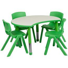 Flash Furniture YUYCY0930034CIRTBLGREENGG